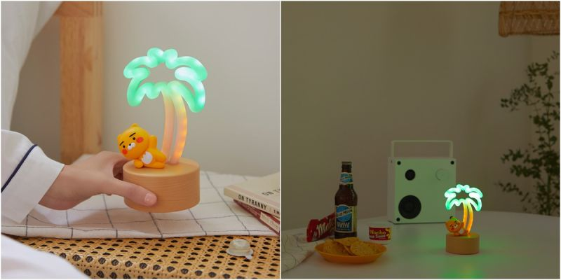 夏夜小聚會必備,《Ryan椰子樹香氛小夜燈》超有氣氛