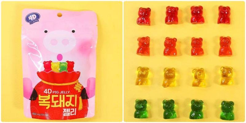 新款《胖胖福气猪软糖》上市,一次可以吃到4种口味喔!