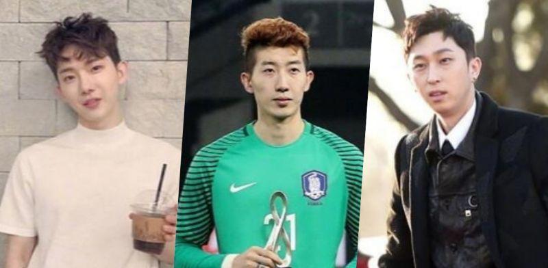 韩国队门将赵贤佑撞脸一群韩星,难道这才是韩国的真・大众脸?
