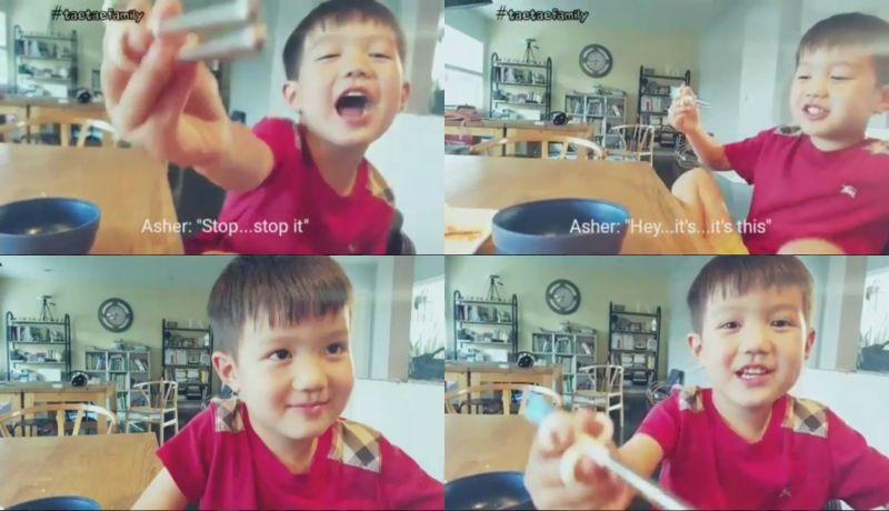 泰吴长大罗!爸爸Ricky Kim分享儿子首次用英文与他对话的影片