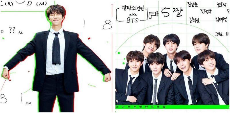 BTS防弹少年团RM说明书+五岁全体履历大公开  他们最爱的歌词是?
