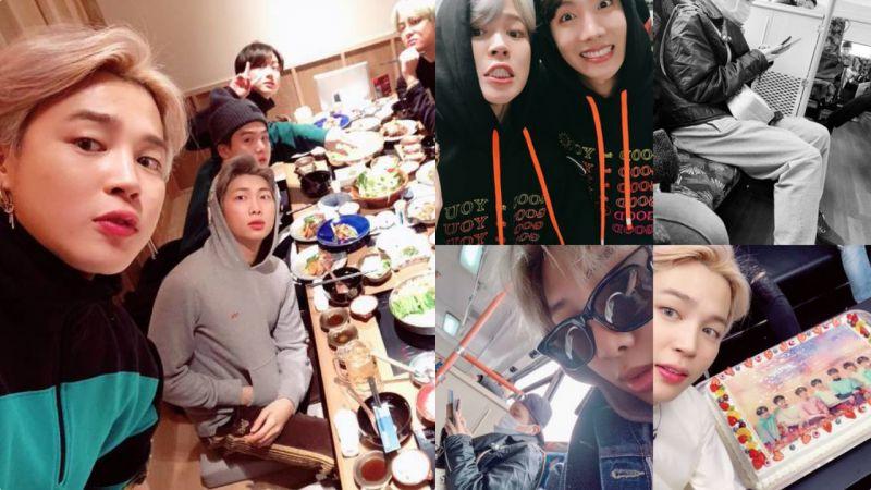 BTS防彈少年團公開聚餐合影,終於知道為什麼JIMIN叫「年糕」了