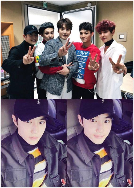为EXO-CBX、SJ圭贤应援的SUHO 忍不住称赞「太帅了!」