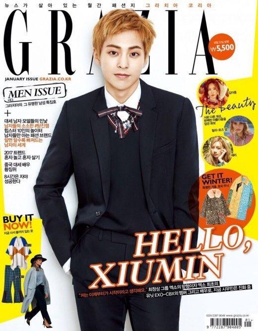 EXO 童顏擔當 Xiumin 隻身登時尚雜誌封面