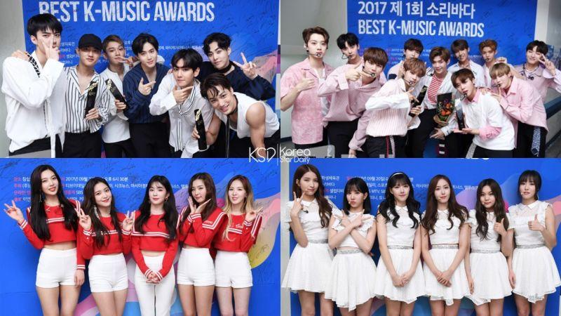 第一届Soribada Awards获奖名单! Wanna One第一个新人奖,EXO仍是最大赢家!