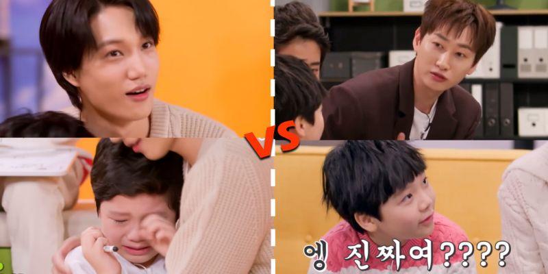 《Job动产》小朋友民灿见到EXO KAI大哭,和见到SJ银赫态度完全不同XD