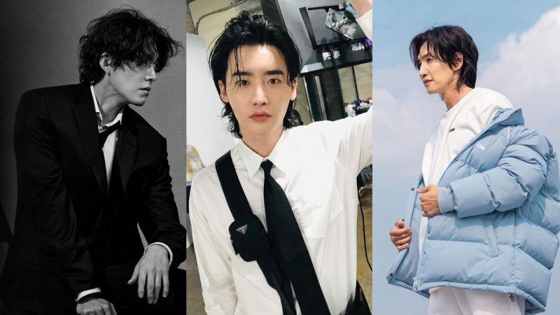 韩国男艺人这类型的「长发微卷」真的太帅了!金宇彬、李钟硕、李光洙