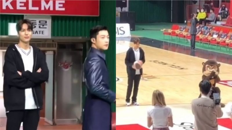 【路透】《The King:永远的君主》李敏镐出现在篮球场上!帅气投篮引发全场欢呼