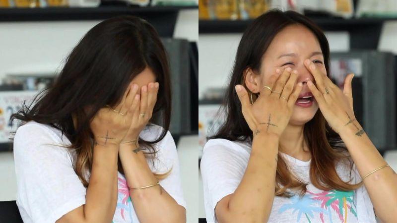 李孝利因为KTV口罩事件担忧下车,在《玩什么好呢》失控落泪TT