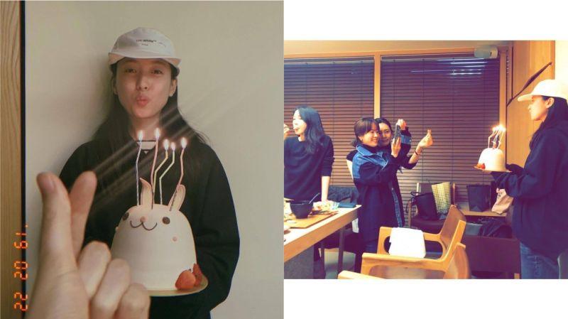韩孝周昨天(22日)生日!同为BH娱乐的韩志旼、秋瓷炫、李智雅提早为其庆生