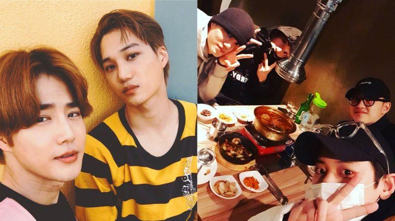 EXO KAI生日快乐!灿烈SNS分享聚餐照 前两天生日的D.O.也一起庆祝了~