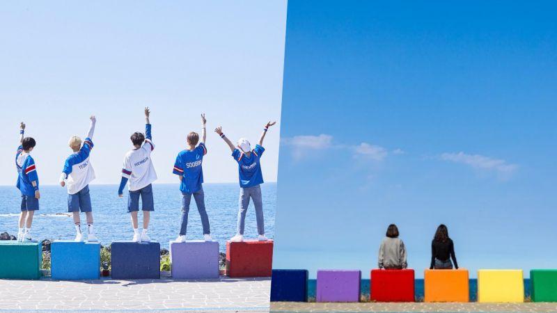 【旅游资讯】TXT拍摄第二本写真书<H:OUR>的济州彩虹海岸