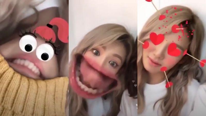 少時潤娥、孝淵、太妍Dubai公演中直播大玩特效! 超級爆笑XD