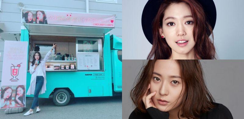 《繼承者們》友情的延續! Krystal給朴信惠送咖啡車應援:「漂亮姐姐不要中暑! 」