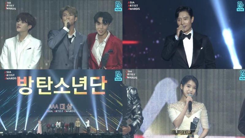 2018 AAA 得奖完整名单:IU、BTS防弹少年团、李秉宪成为大赢家!