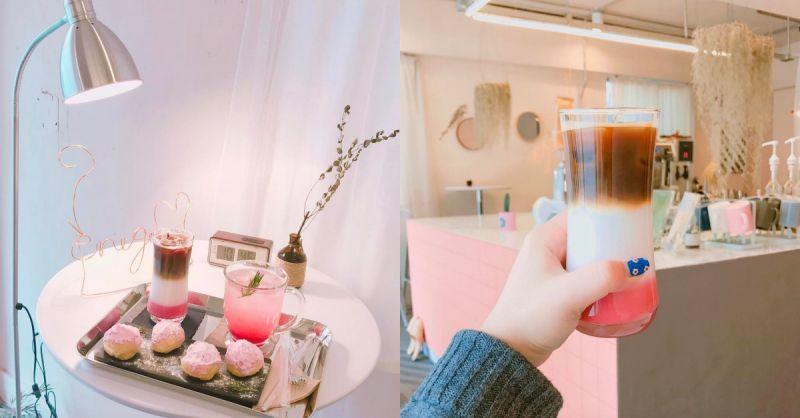 韩国SNS网红咖啡厅!这杯充满少女心的渐层草莓Latte夺冠啊!