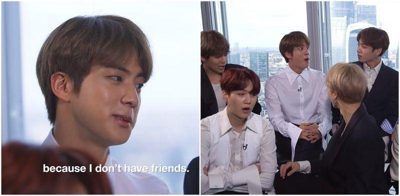 [有片]一句話惹怒BTS?大哥JIN:我沒朋友