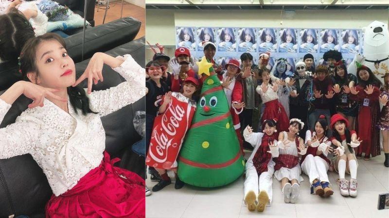 IU Team今年又超認真準備聖誕節裝扮!讓IU表示:「都知道的吧...不會強迫IU Team的!」