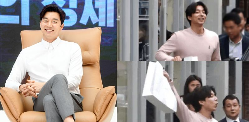 孔劉向粉絲展示新買的東西~沒想到卻被經理人「無情」拉走XD