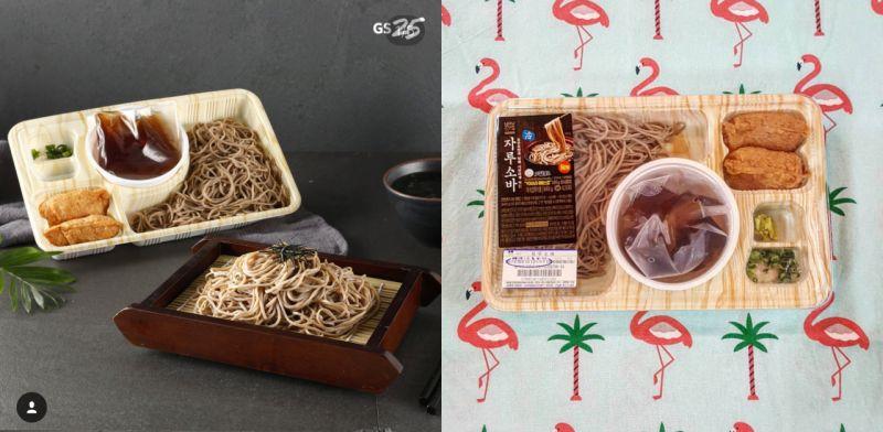 超熱的天氣來碗冷喬麥麵吧:韓國GS25夏天新推冷喬麥麵便當!
