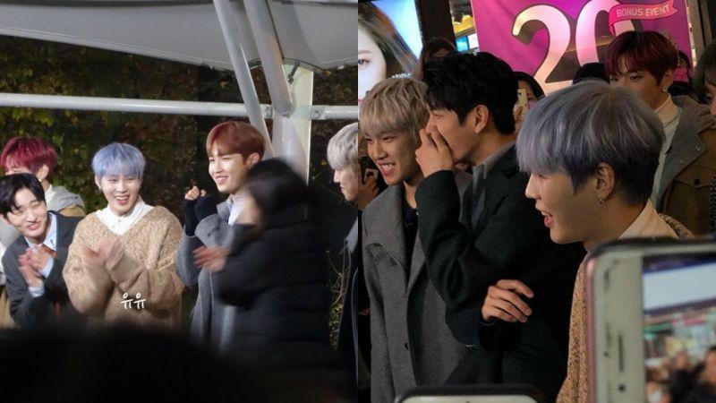 碗粉被Wanna One围著转圈,和每位成员眼神对视!