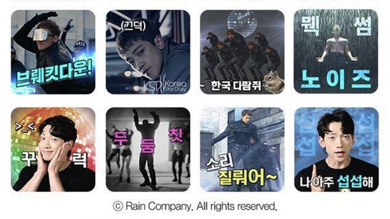Rain / SSAK3 雨龍推出 Kakao 表情包,不愧是最俏皮的天王巨星!XD