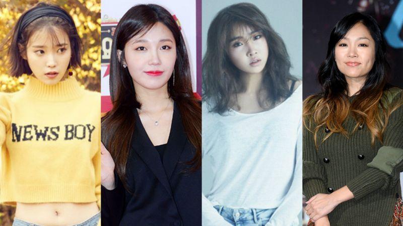 四月SOLO女歌手轮番出击:朴正贤、IU、郑恩地、孔敏智