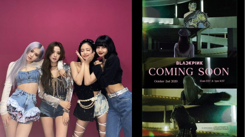 就是下週啦!BLACKPINK首張正規專輯《THE ALBUM》Coming Soon海報公開,大家有猜出4名成員的背影嗎?