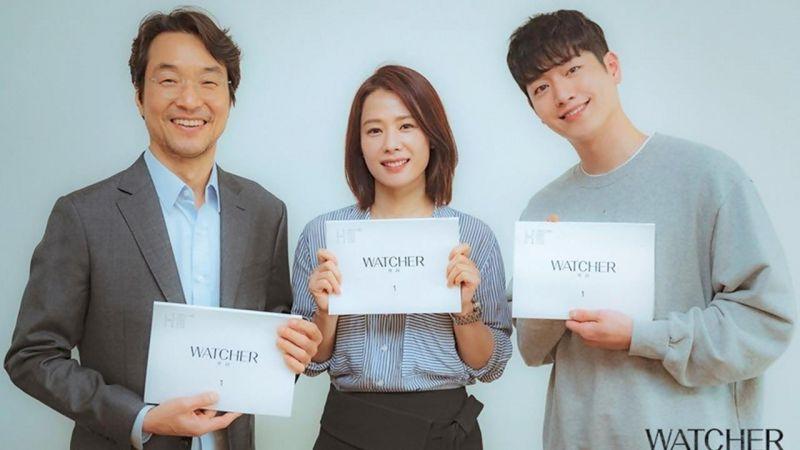 實力派大集合!OCN新劇《Watcher》韓石圭、金賢珠、徐康俊劇本練習照