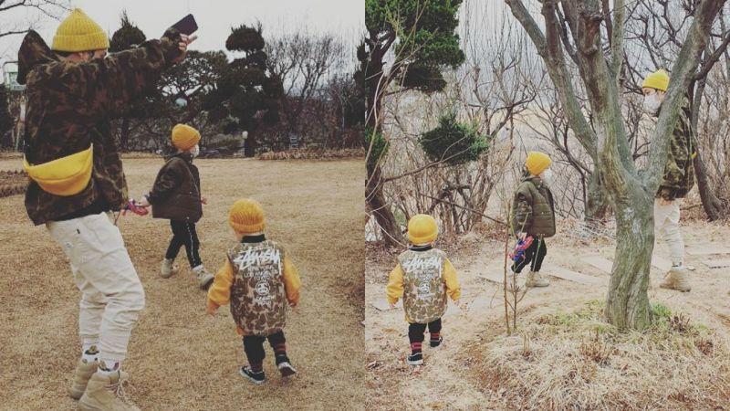 星曬出HAHA三父子的4張郊遊照!同色家庭裝Fashion帥氣又可愛♥