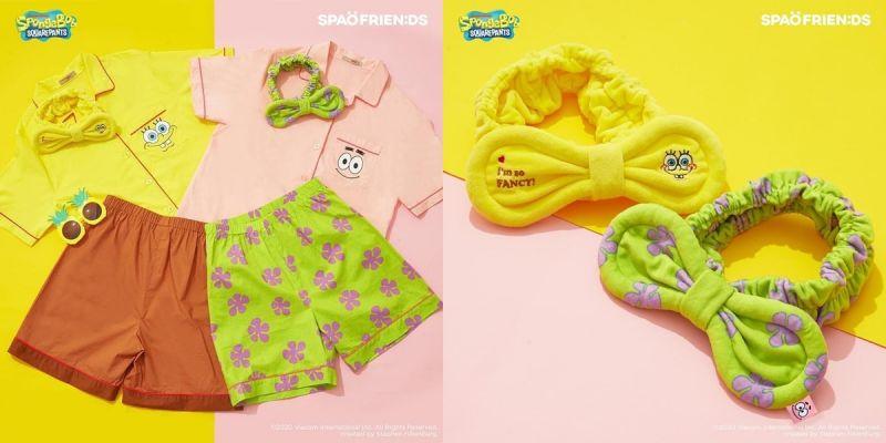 卡通界的超级好朋友,韩国SPAO推出海绵宝宝与派大星睡衣