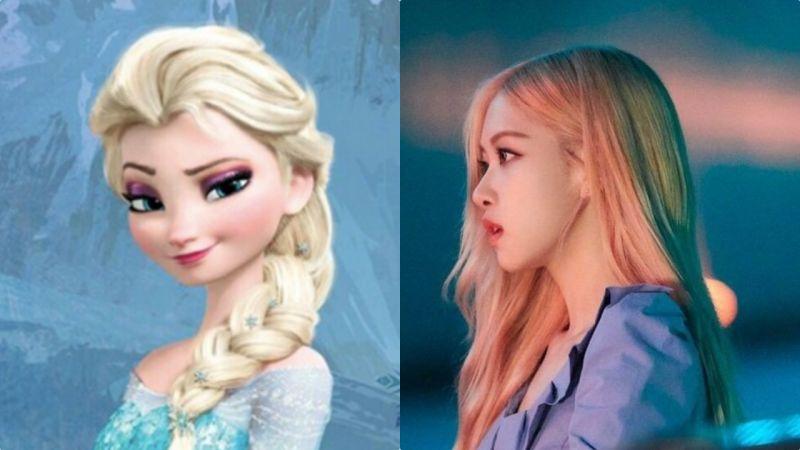 BLACKPINK Rosé和《Frozen》Elsa相似度100%!快让她演真人版电影吧~