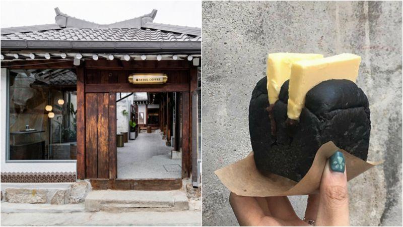 【韓屋文青咖啡廳】還在麵包裡找餡?直接整塊奶油夾給你看!