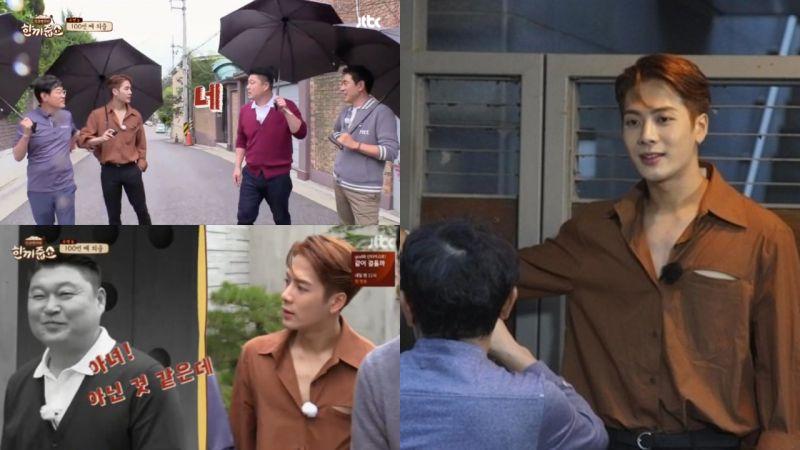 姜鎬童:你的韓語比以前退步啊?Jackson:因為哥總是這樣...滅我的士氣!