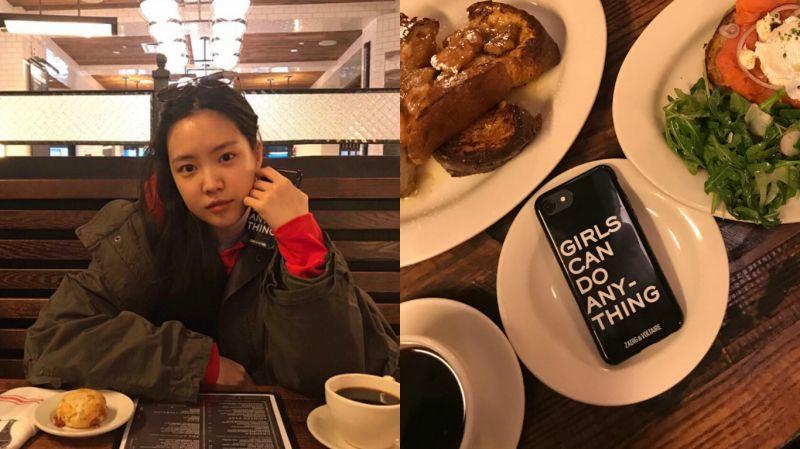 Apink孙娜恩删除SNS照片 居然是因为手机壳上的一句话?