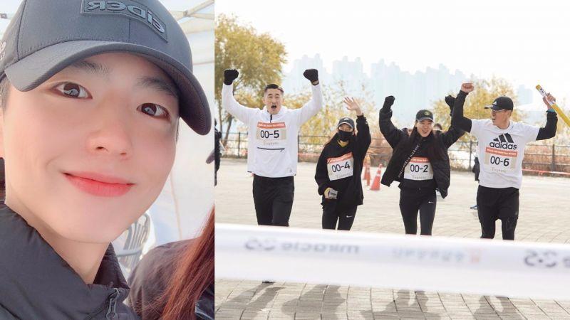Sean邀请朴宝剑-成勋-金东炫-景收真参加公益活动,组队完成接力跑!