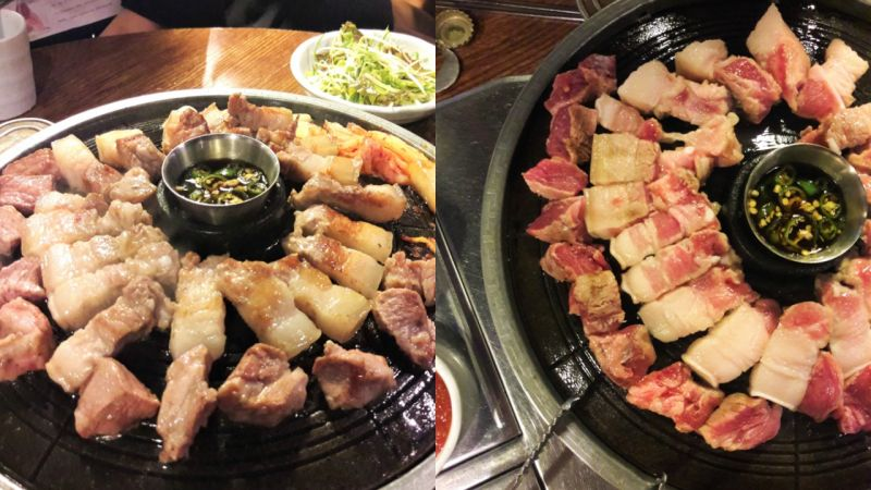 【弘大必吃】在弘大也能吃到济州黑猪肉!不敢吃肥肉的你也会一口接一口~