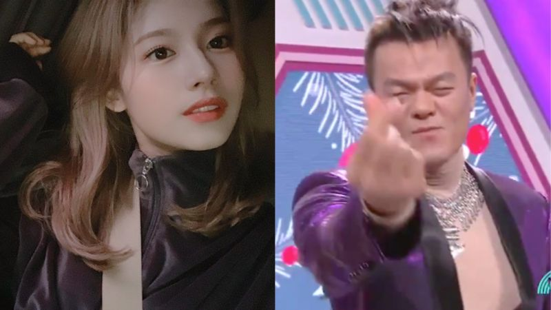 接受了TWICE Sana建议...在《音乐银行》做了「爱豆式」问侯的朴轸永:眨眼和手指爱心!
