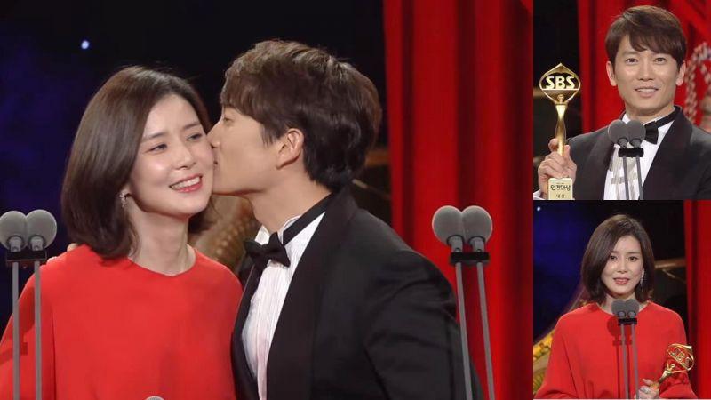 池晟以《被告人》拿下SBS演技「大赏」甜蜜KISS爱妻李宝英~!