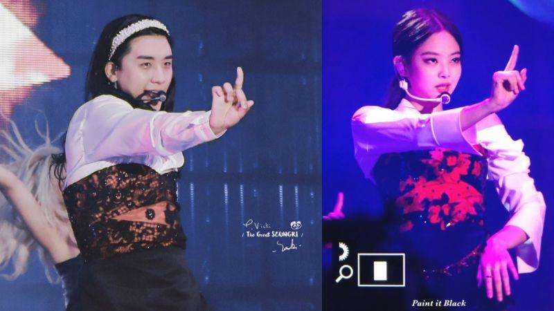 「不愧是BLACKPINK第5位成员XD」BIGBANG胜利女装模仿Jennie《SOLO》!