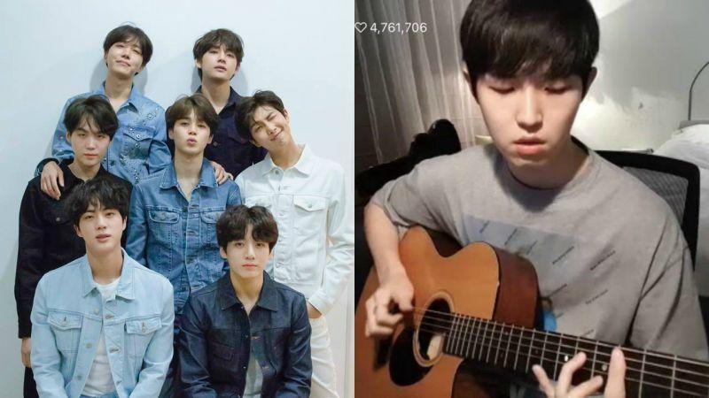 Wanna One金在奂吉他弹唱防弹少年团《无法传达的真心》