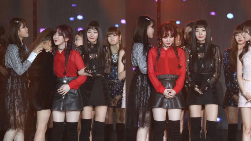 有愛的愛豆們!AKMU秀賢、TWICE娜璉安慰Yeri,Red Velvet成員幫忙擋住