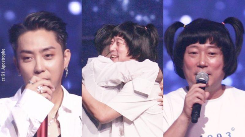 李寿根友情助阵殷志源演唱会,时隔多年合唱《160》!蘑菇头+小辫子好搞笑XD