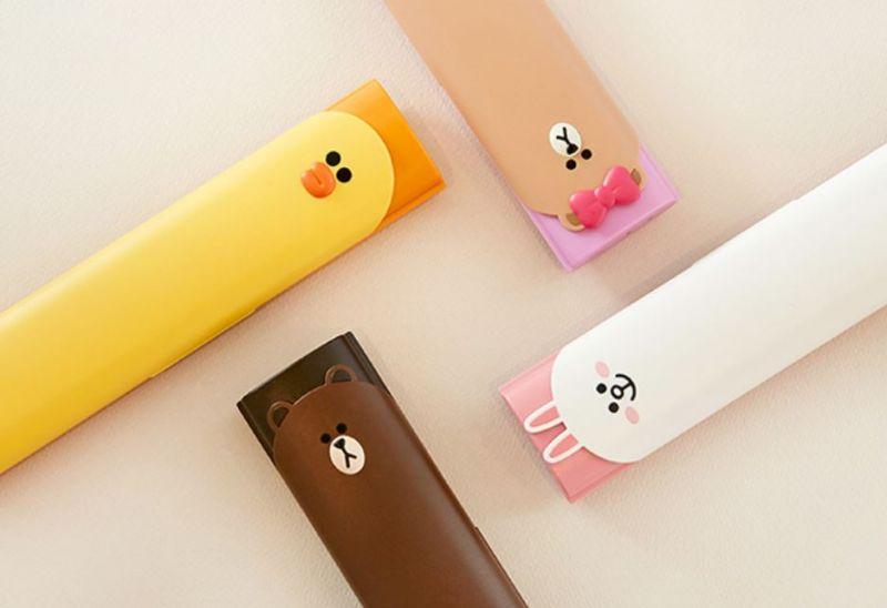 超可爱的LINE FRIENDS紫外线牙刷杀菌盒
