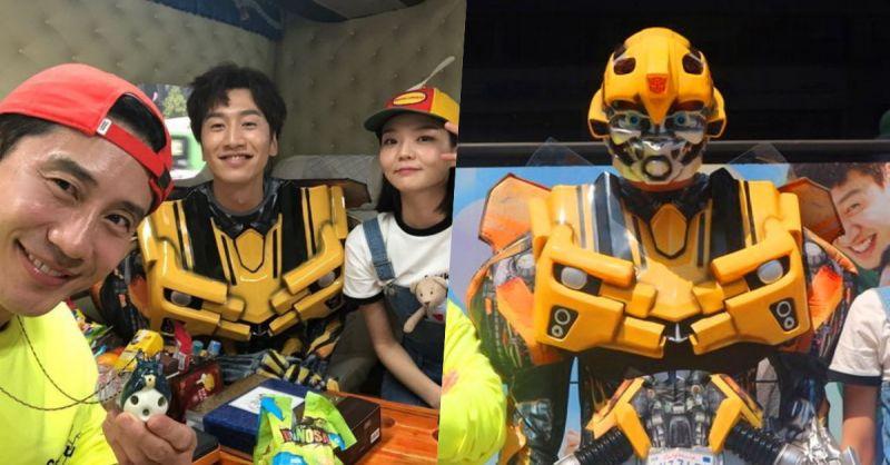 超有童心! 李光洙儿童节穿《Transformer》大黄蜂cos服宣传新片