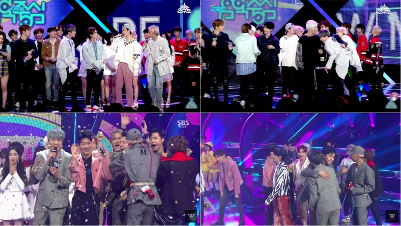 SM的前輩們在音樂節目上與WINNER的溫暖互動!讓粉絲們都直呼:「太感動了!」