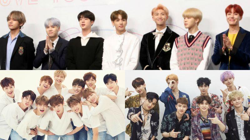 大势之争!防弹少年团蝉联男团品牌评价冠军 Wanna One 与 EXO 分夺亚、季军