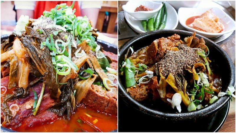 【弘大必吃】冷天就是要吃鍋!弘大地鐵站出口24小時營業馬鈴薯排骨湯