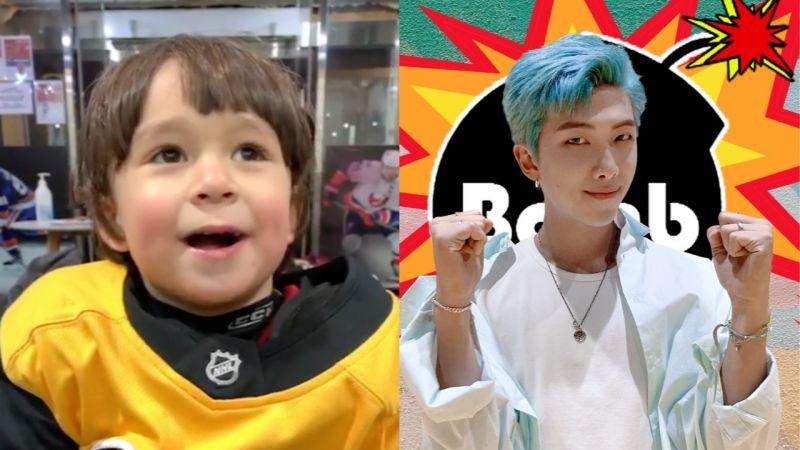 威廉也陷入BTS的魅力...还喊话:我也想要像RM哥一样,染蓝色!网友:你是儿童界的BTS