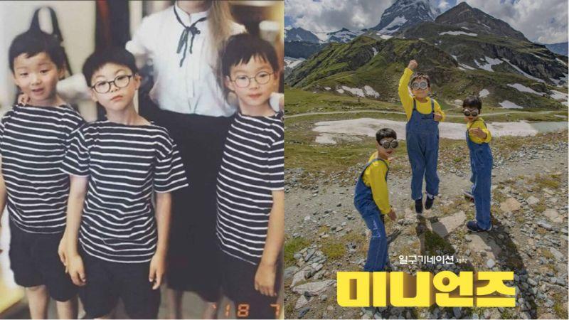 暴风成长的三胞胎近照公开!大韩民国万岁越来越有小男孩的气质啦!